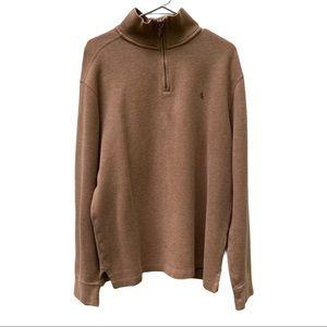 polo ralph lauren long sleeve quarter zip sweater